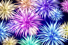 Abstract colored firework background with free space for text vector. Art Stock Images