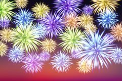 Abstract colored firework background with free space for text vector. Art Royalty Free Stock Photos