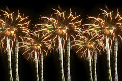Abstract colored fireworks Stock Image