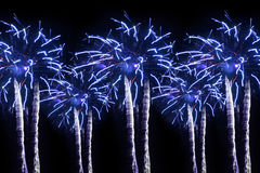 Abstract colored fireworks Royalty Free Stock Photography