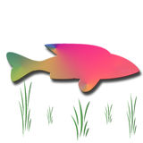 Abstract colored Fish. Brightly colored abstract shaped fish stock illustration