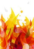 Abstract colored flame background with different shapes. Vector art royalty free illustration