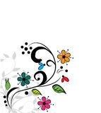 Abstract colored floral background. Vector illustration Stock Photos