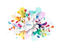 Abstract colored flower background with circles royalty free stock photography