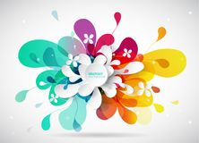 Abstract colored flower background with circles. Stock Images