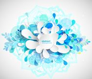 Abstract colored flower background with circles and mandala. Royalty Free Stock Images
