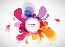 Abstract colored flower background with circles. Stock Photography