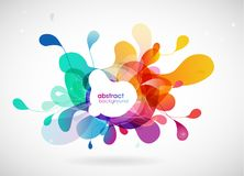 Abstract colored flower background with circles. stock illustration