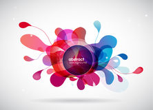 Abstract colored flower background with circles. Stock Photos