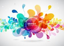 Abstract colored flower background with circles. Royalty Free Stock Image