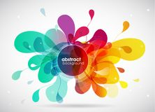 Abstract colored flower background with circles. Royalty Free Stock Photos
