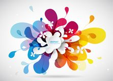 Abstract colored flower background with colorful petals. Vector art Royalty Free Stock Photo