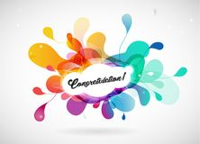 Abstract colored flower background with congratulation text. Vector art stock illustration