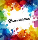 Abstract colored flower background with congratulation text. vector illustration