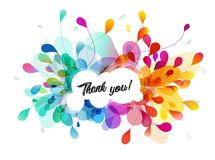 Free Abstract Colored Flower Background With Thank You Text. Stock Image - 118766411