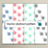 Abstract colored flowers on a white background.  vector illustration