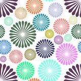 Abstract colored flowers on white background. Eps stock illustration