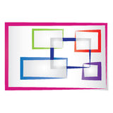 Abstract colored frames. Set of abstract colored frames for photography design stock illustration