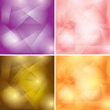 Abstract colored geometric backgrounds - vector Royalty Free Stock Photo