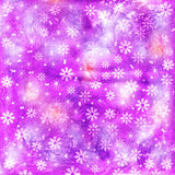 Abstract colored  gouache  painting snowflakes  Christmas  backg. Round Royalty Free Stock Photography