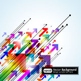 Abstract colored gradient background with arrows stock illustration