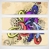 Abstract Colored Graffiti Pattern. Stock Images