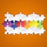 Abstract colored group puzzle background Stock Photos