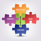 Abstract colored group puzzle business background. Eps 10 Royalty Free Stock Images