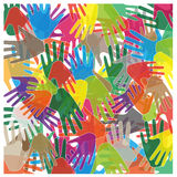Abstract colored hands Stock Image