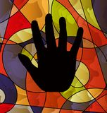 Abstract colored image of black hand Royalty Free Stock Photo