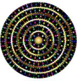 White and colored circles Stock Image