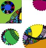 Abstract ornament circles. Abstract colored image of circles consisting of lines and figures Royalty Free Stock Photos