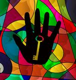 Abstract colored image of dark hand Royalty Free Stock Images