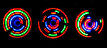 Abstract colored light circles Stock Photo