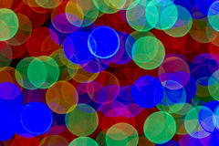 Abstract Colored Lights Bokeh Background Stock Photography