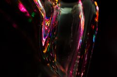 Colored Lights Reflecting in the Darkness Stock Photography
