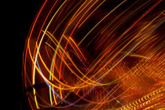 Abstract and colored lines. Isolated in black background royalty free stock photography