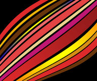 Abstract lines. Abstract colored lines on black background Royalty Free Stock Photo