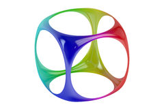 Abstract colored logo design 3D. On white background Stock Images