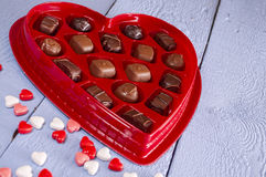 Valentine heart candy Stock Photos