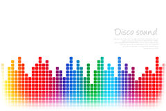 Abstract colored music background Royalty Free Stock Photo