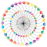Abstract colored object. Vector. Royalty Free Stock Photos