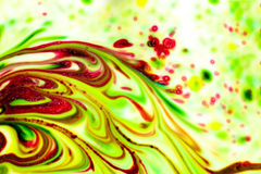 Abstract Colored paint stains. Colored paint stains smeared in a chaotic mess Stock Photography