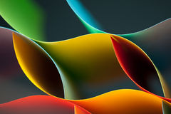 Abstract colored paper  on blue background Royalty Free Stock Photography