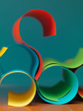 Abstract colored paper  on blue background Stock Photography