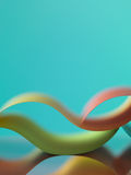 Abstract colored paper on blue background royalty free stock images