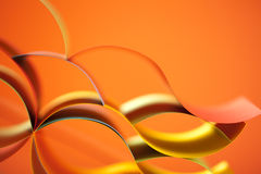 Abstract colored paper  on orange background Stock Images