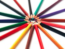 Abstract colored pencils for background royalty free stock photo
