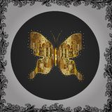 Abstract colored picture. Beautiful butterfly vector pattern illustration design. Pictures in white, gray and black colors. Seamless. Cute background for stock illustration