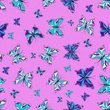 Colorful nice folk  seamless pattern stock illustration